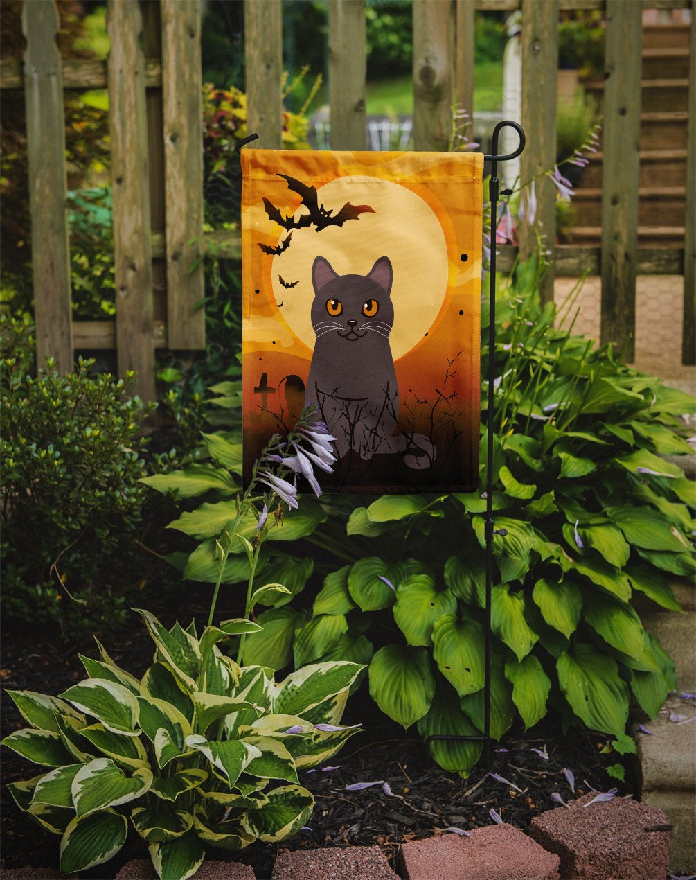 Halloween Chartreux Cat Flag Garden Size BB4443GF by Caroline's Treasures