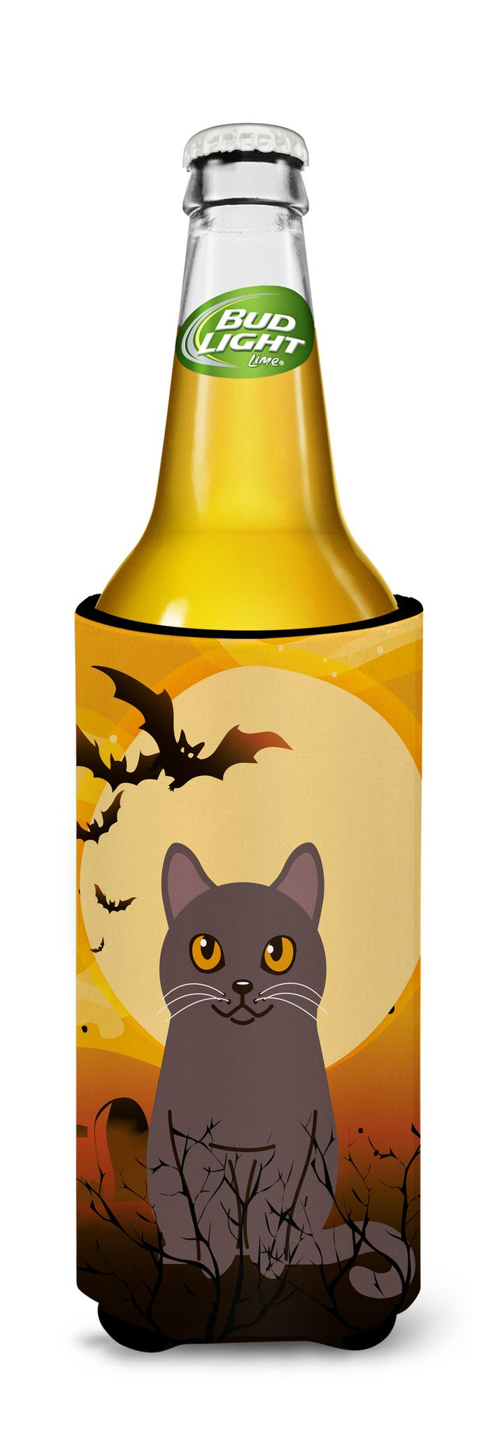 Halloween Chartreux Cat Michelob Ultra Hugger for slim cans BB4443MUK by Caroline's Treasures