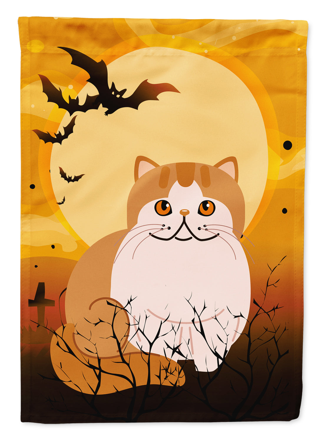 Halloween Exotic Shorthair Cat Flag Canvas House Size BB4444CHF by Caroline's Treasures
