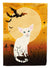 Buy this Halloween Foreign White Cat Flag Canvas House Size BB4445CHF