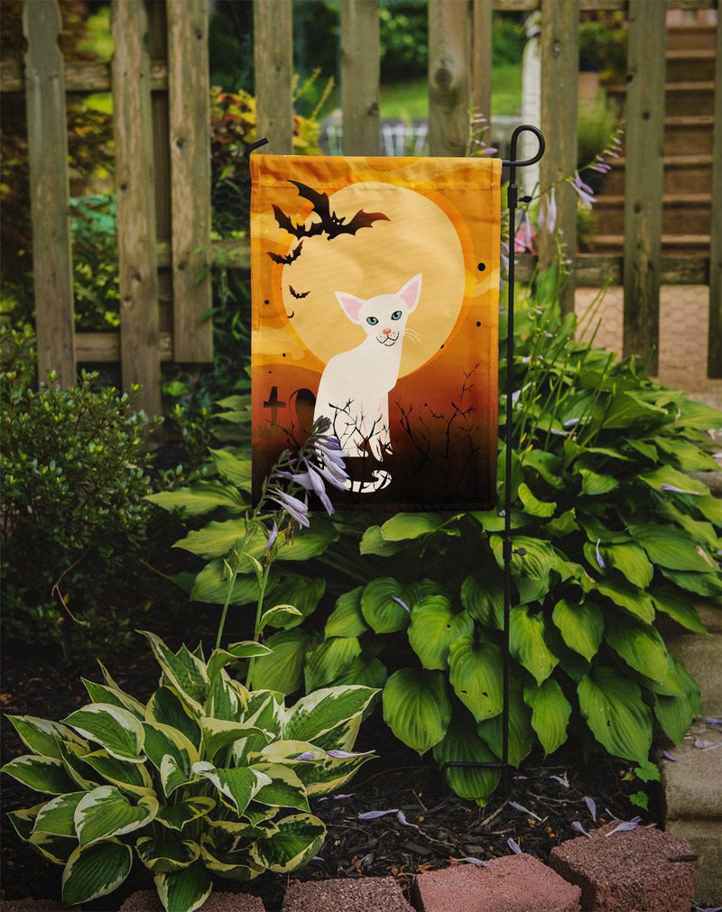 Halloween Foreign White Cat Flag Garden Size BB4445GF by Caroline's Treasures