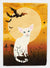 Buy this Halloween Foreign White Cat Flag Garden Size BB4445GF