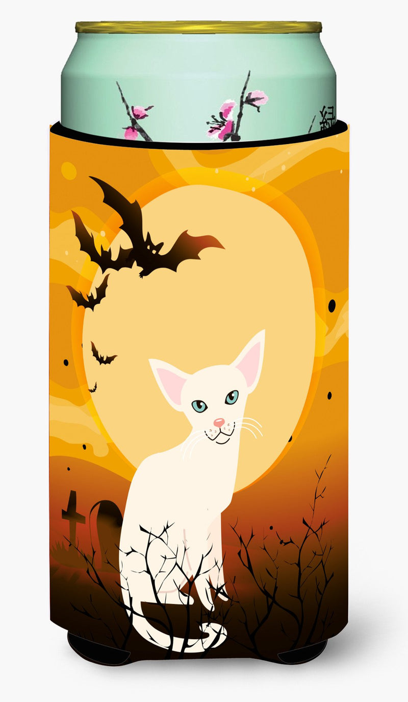 Halloween Foreign White Cat Tall Boy Beverage Insulator Hugger BB4445TBC by Caroline's Treasures