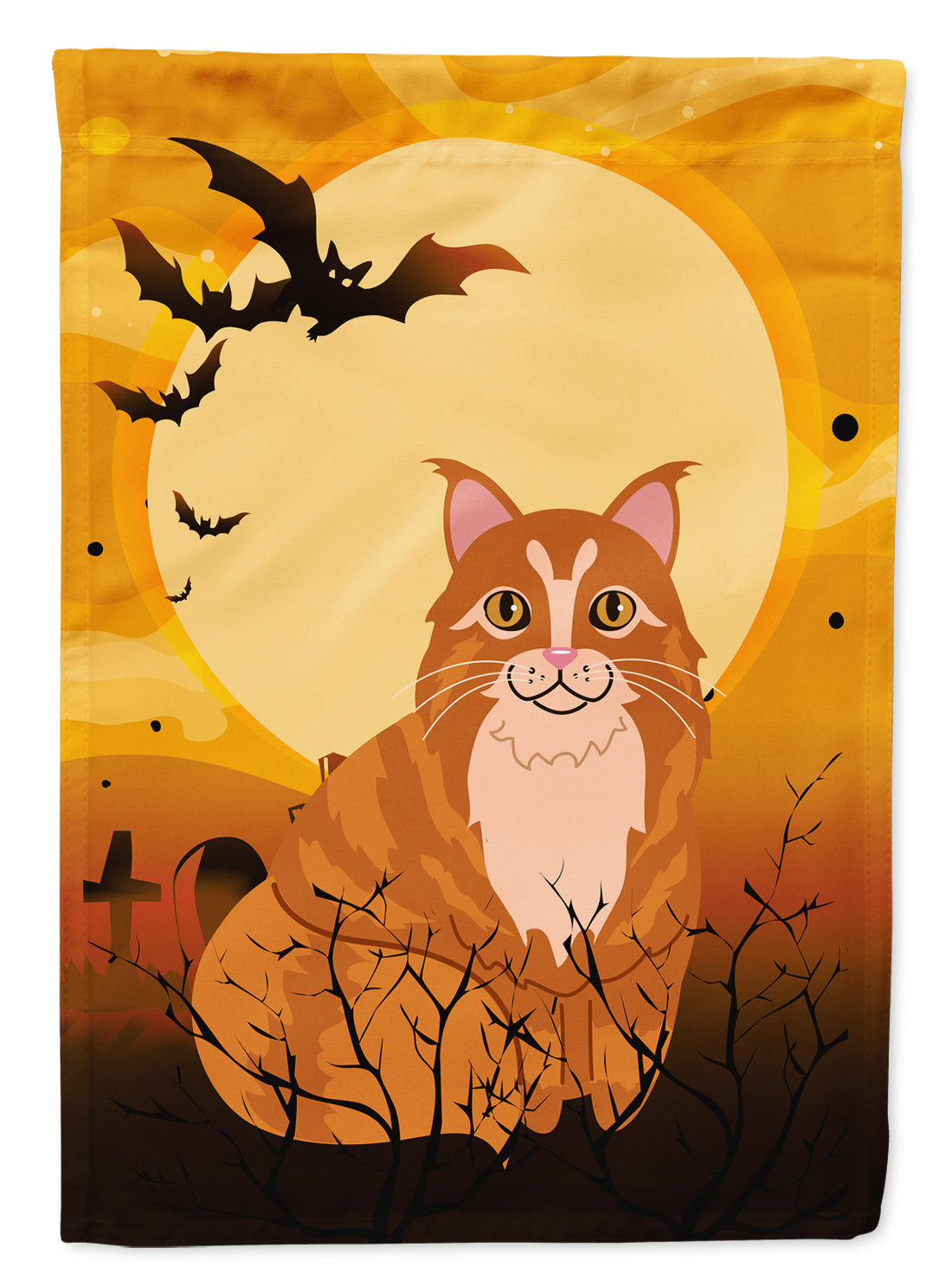 Halloween Maine Coon Cat Flag Canvas House Size BB4448CHF by Caroline's Treasures
