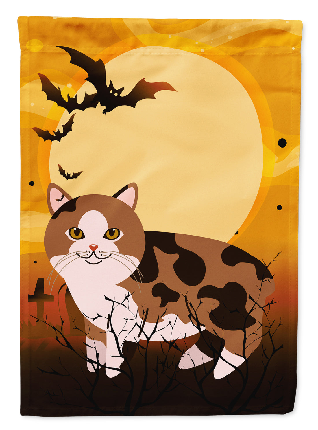 Buy this Halloween Manx Cat Flag Canvas House Size BB4449CHF