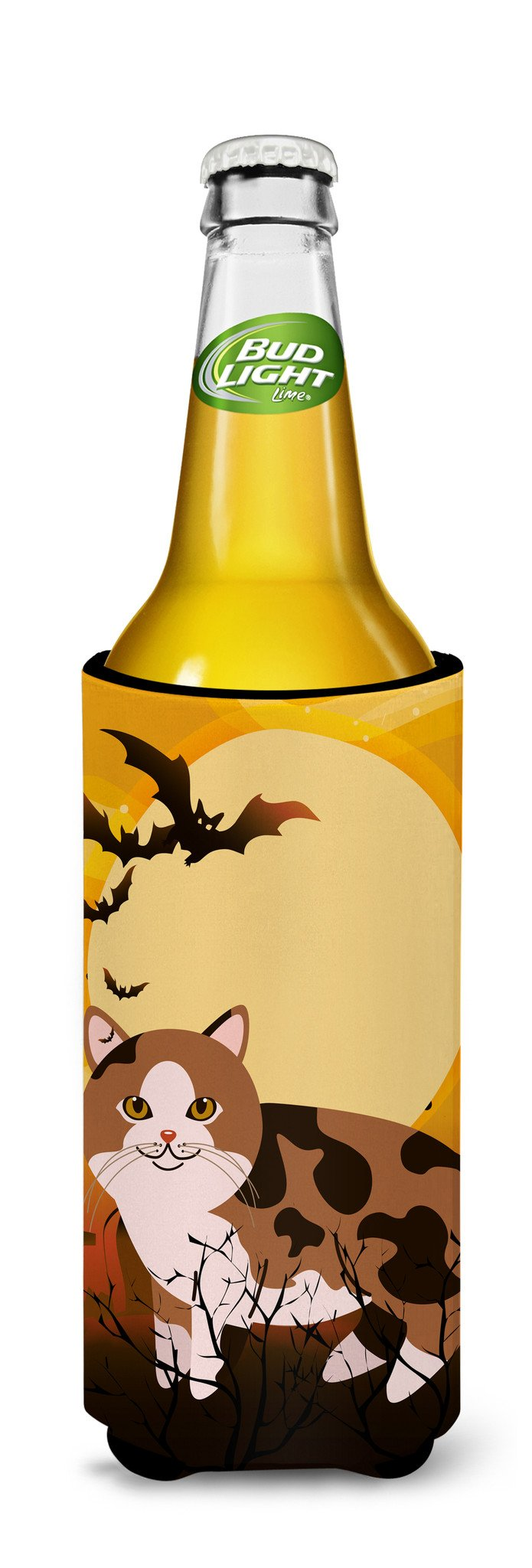 Buy this Halloween Manx Cat Michelob Ultra Hugger for slim cans BB4449MUK