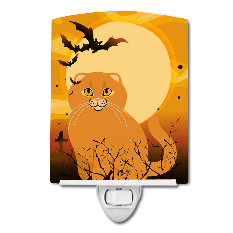 Buy this Halloween Scottish Fold Cat Ceramic Night Light BB4453CNL