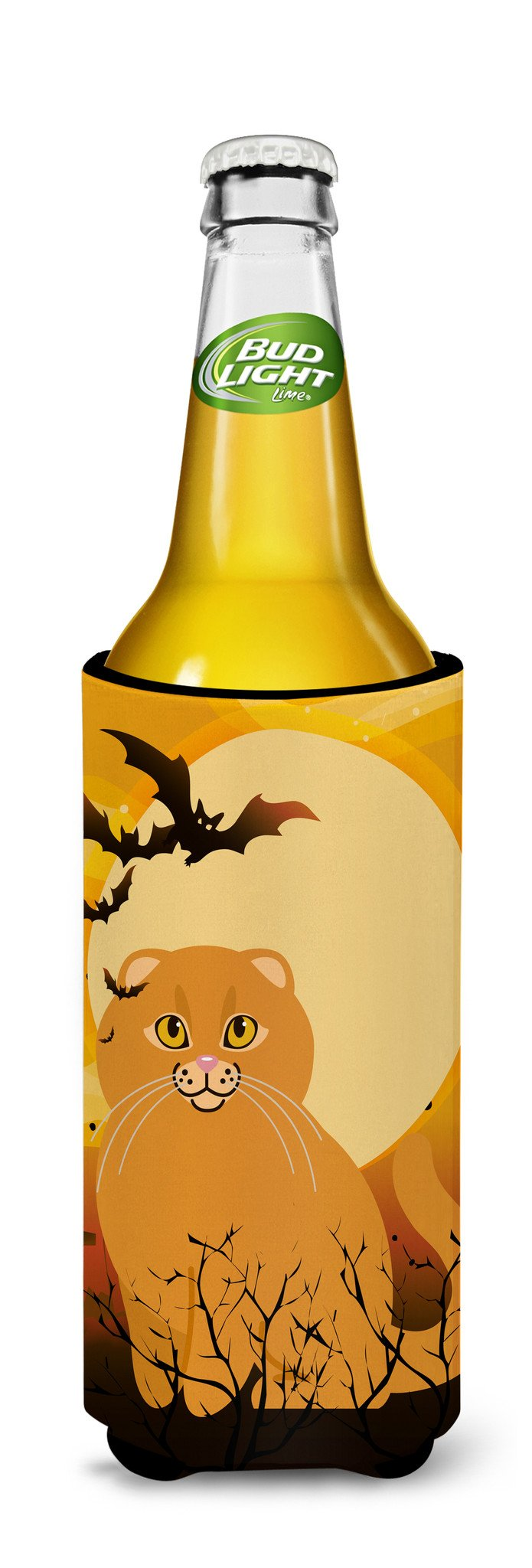 Buy this Halloween Scottish Fold Cat Michelob Ultra Hugger for slim cans BB4453MUK