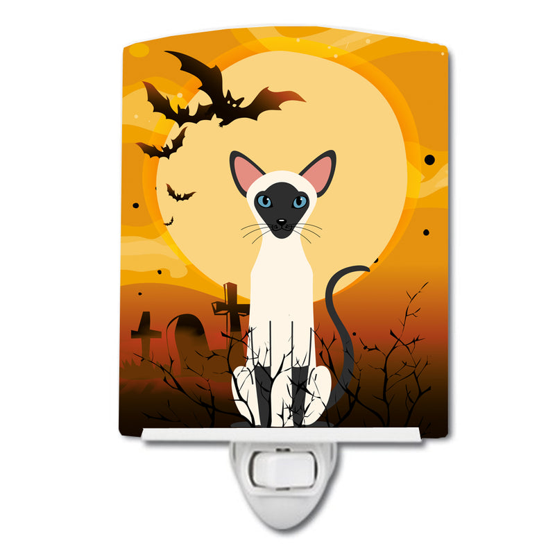 Buy this Halloween Siamese Cat Ceramic Night Light BB4454CNL