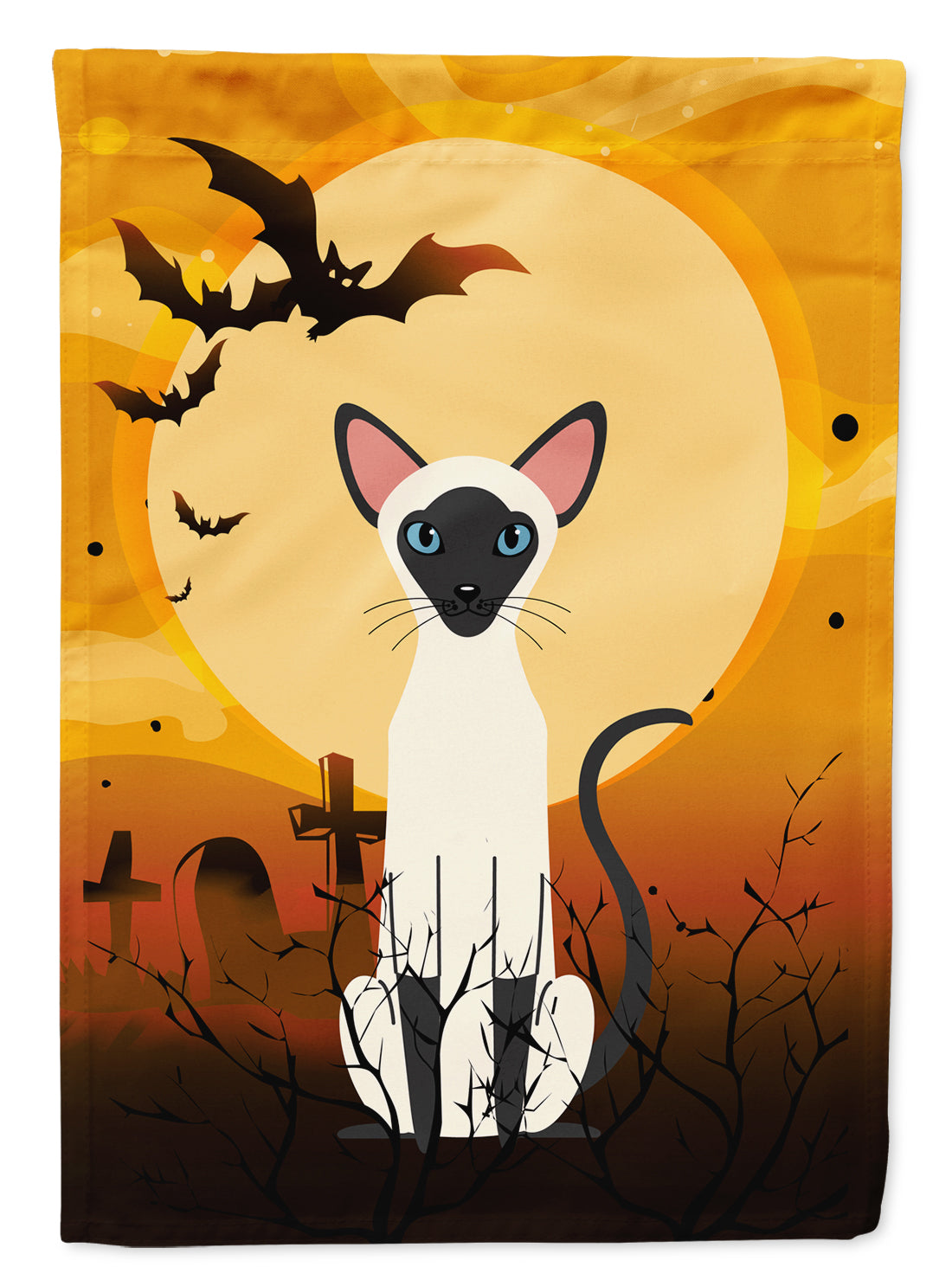 Buy this Halloween Siamese Cat Flag Garden Size BB4454GF