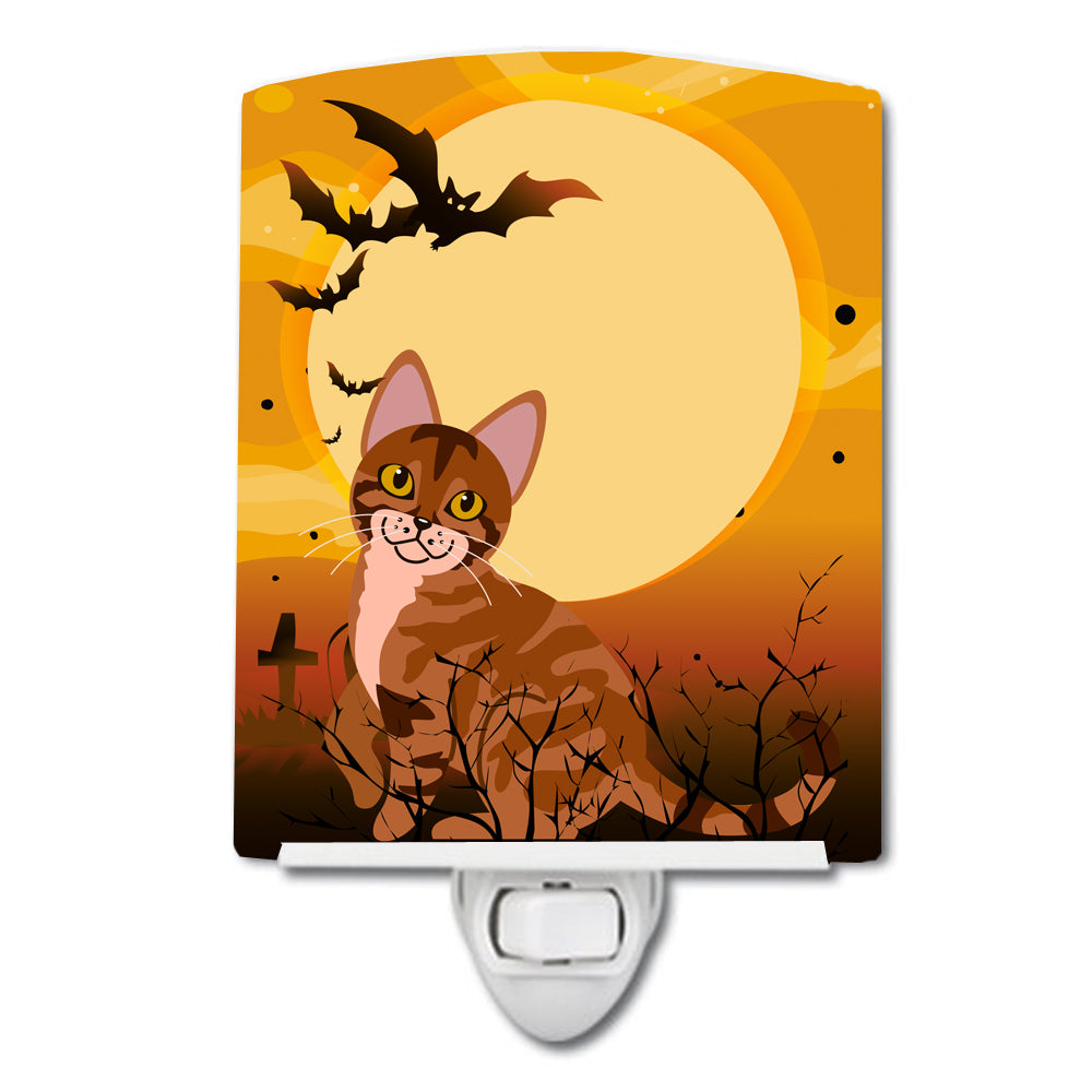 Halloween Sokoke Cat Ceramic Night Light BB4456CNL by Caroline's Treasures