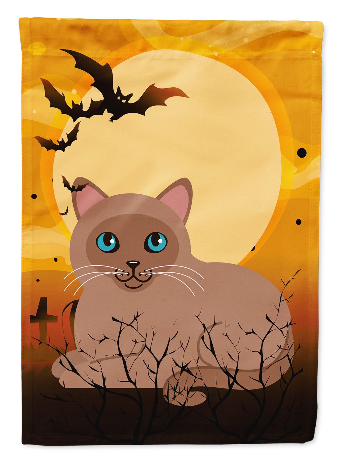 Buy this Halloween Tonkinese Cat Flag Canvas House Size BB4458CHF