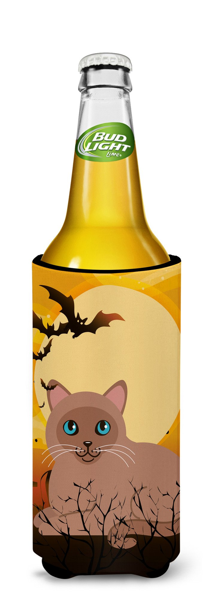 Buy this Halloween Tonkinese Cat Michelob Ultra Hugger for slim cans BB4458MUK