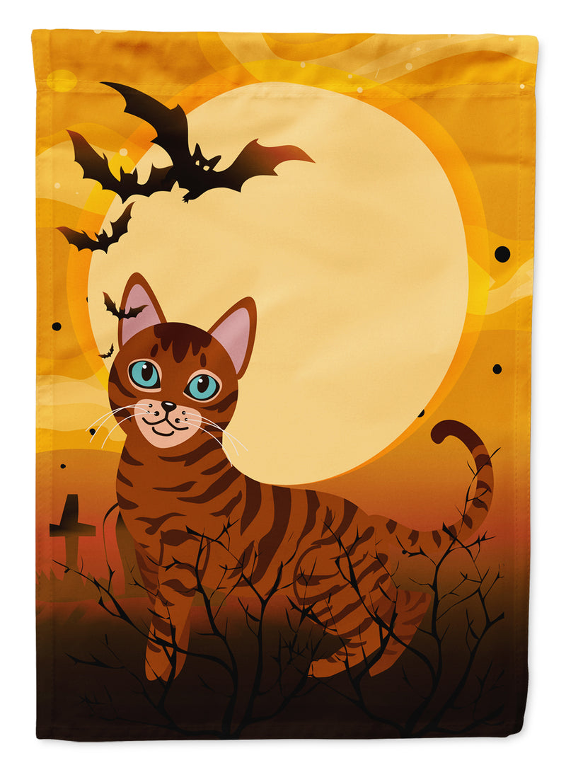 Halloween Toyger Cat Flag Canvas House Size BB4459CHF by Caroline's Treasures