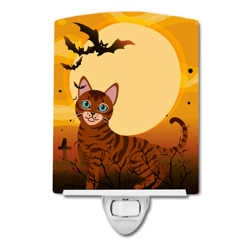 Halloween Toyger Cat Ceramic Night Light BB4459CNL by Caroline's Treasures