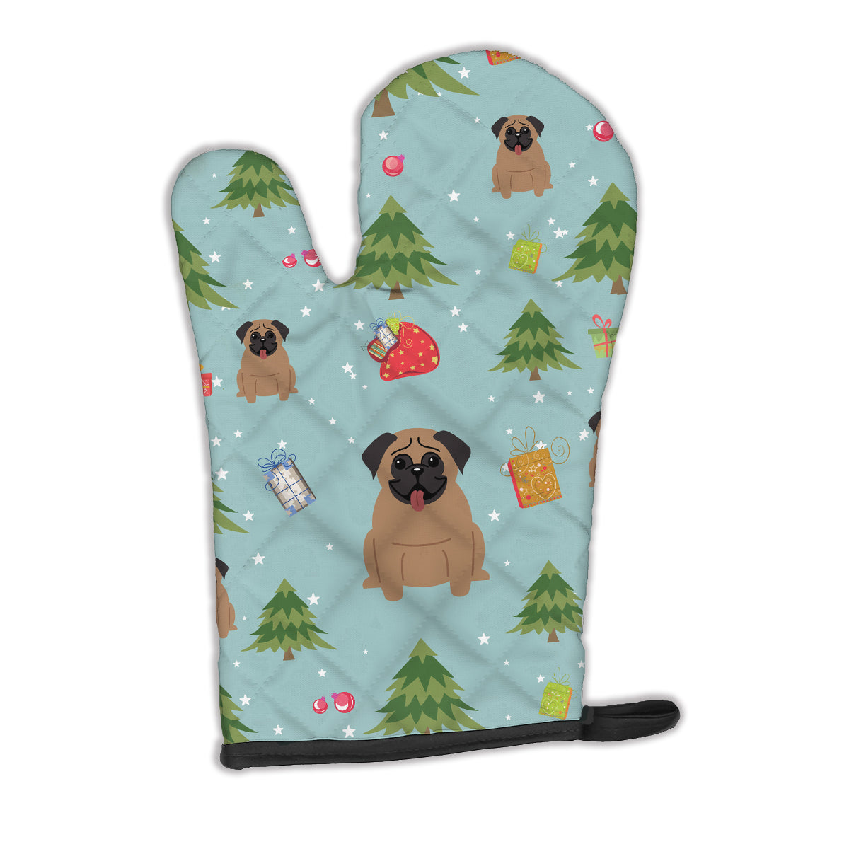 Buy this Christmas Pug Brown Oven Mitt BB4665OVMT