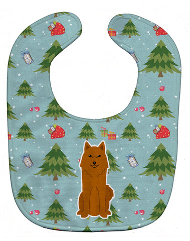 Buy this Christmas Karelian Bear Dog Baby Bib BB4682BIB