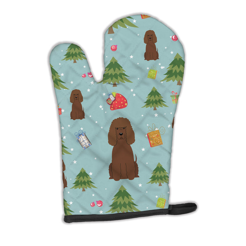 Buy this Christmas Irish Water Spaniel Oven Mitt BB4723OVMT