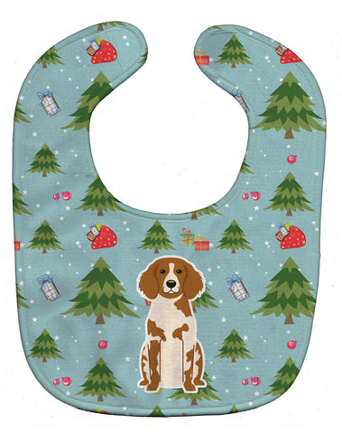 Buy this Christmas Brittany Spaniel Baby Bib BB4732BIB