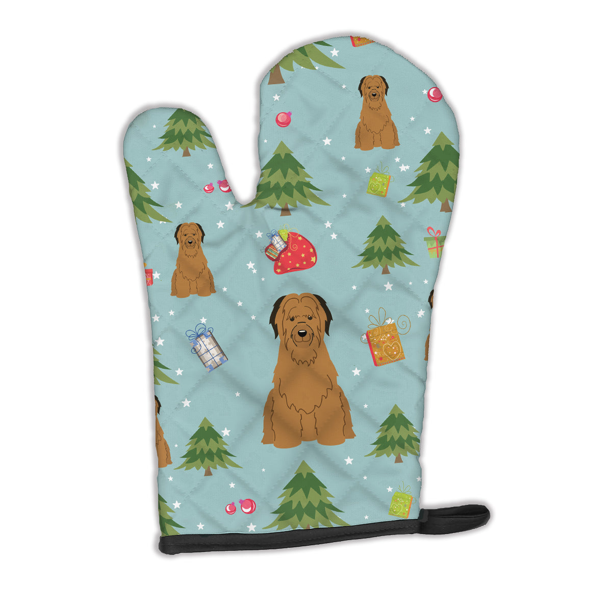 Buy this Christmas Briard Brown Oven Mitt BB4742OVMT