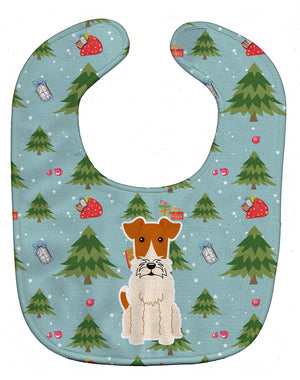 Buy this Christmas Wire Fox Terrier Baby Bib BB4761BIB