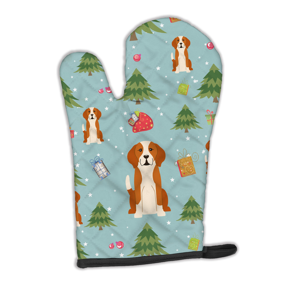 Christmas English Foxhound Oven Mitt BB4770OVMT by Caroline's Treasures