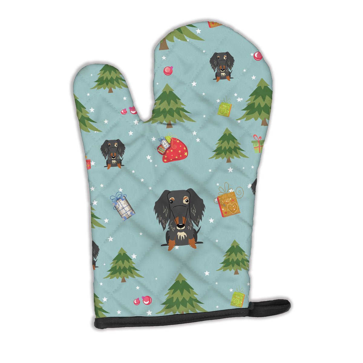 Buy this Christmas Wire Haired Dachshund Dapple Oven Mitt BB4788OVMT