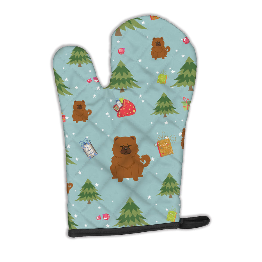 Buy this Christmas Chow Chow Red Oven Mitt BB4802OVMT