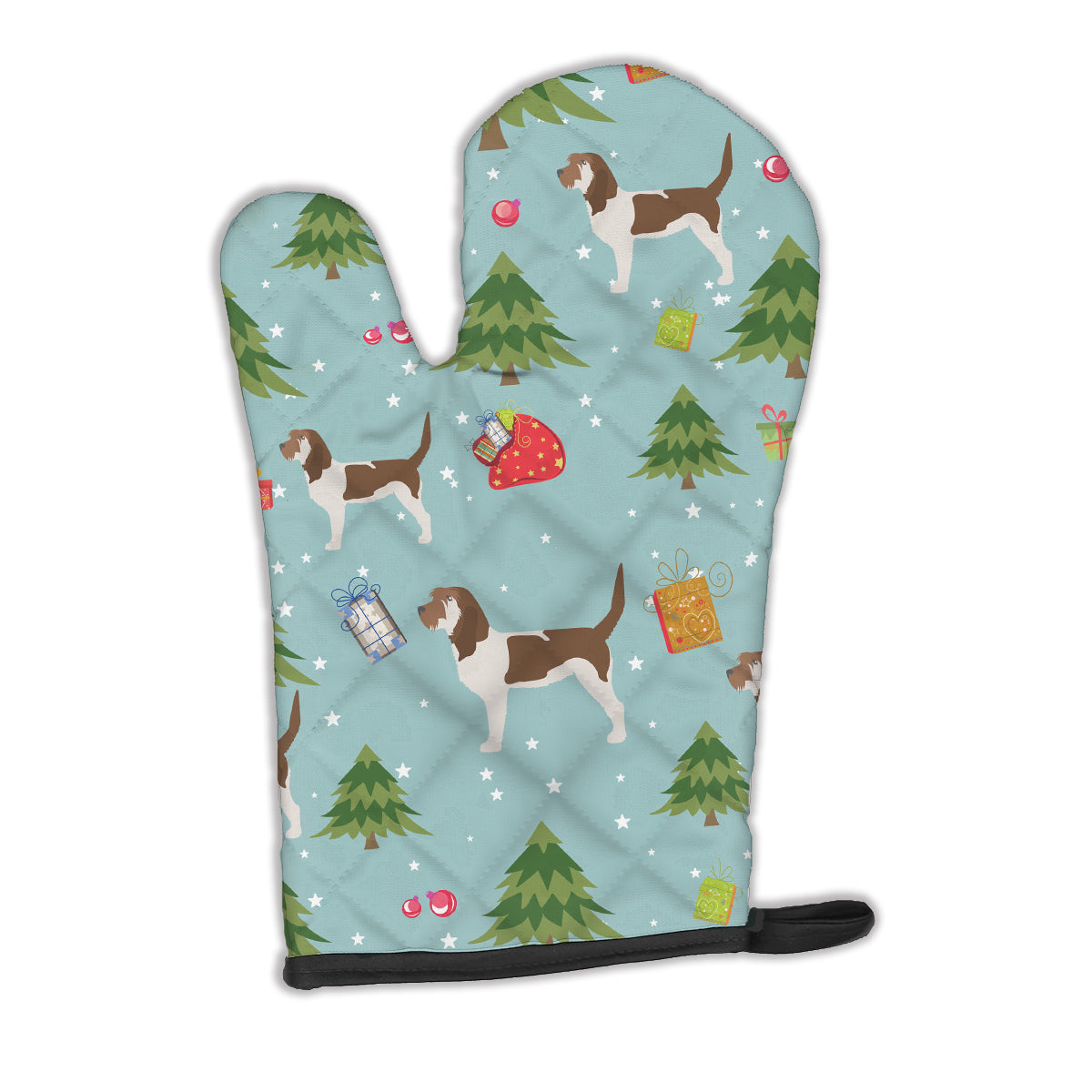 Christmas Grand Basset Griffon Vendeen Oven Mitt BB4814OVMT by Caroline's Treasures
