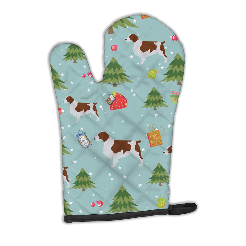 Buy this Christmas Welsh Springer Spaniel Oven Mitt BB4824OVMT