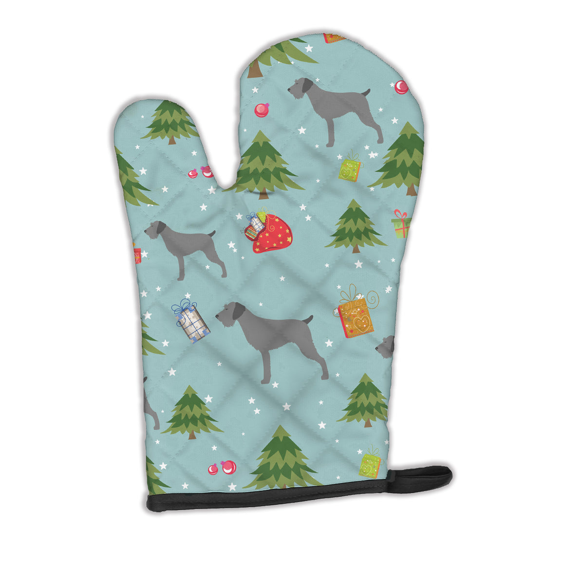 Buy this Christmas German Wirehaired Pointer Oven Mitt BB4835OVMT