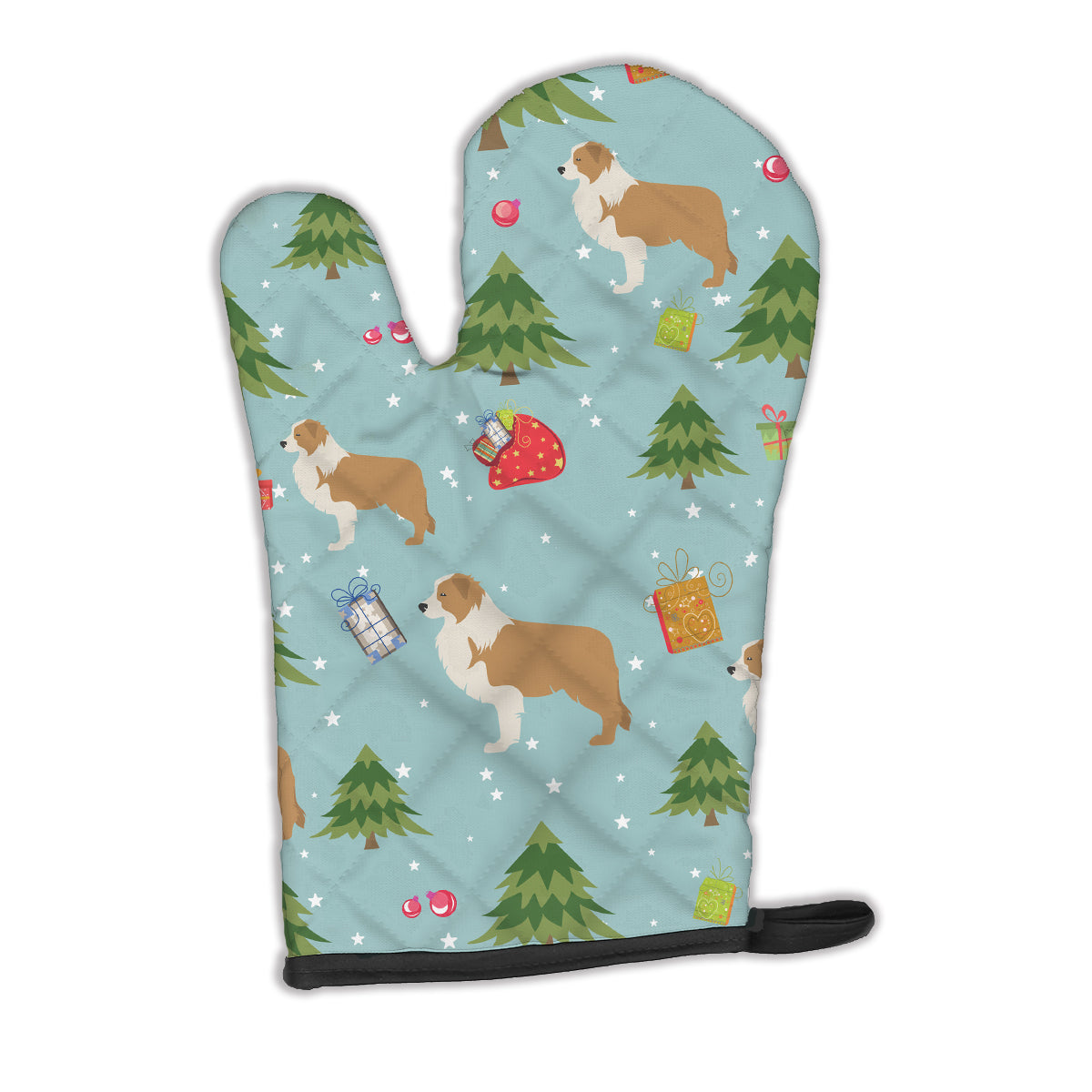 Buy this Christmas Red Border Collie Oven Mitt BB4846OVMT