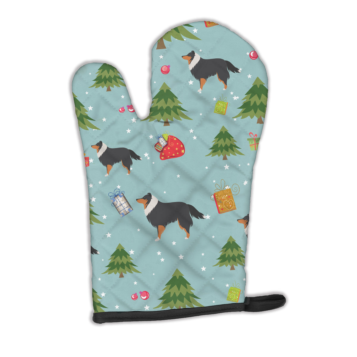 Buy this Christmas Sheltie/Shetland Sheepdog Oven Mitt BB4854OVMT