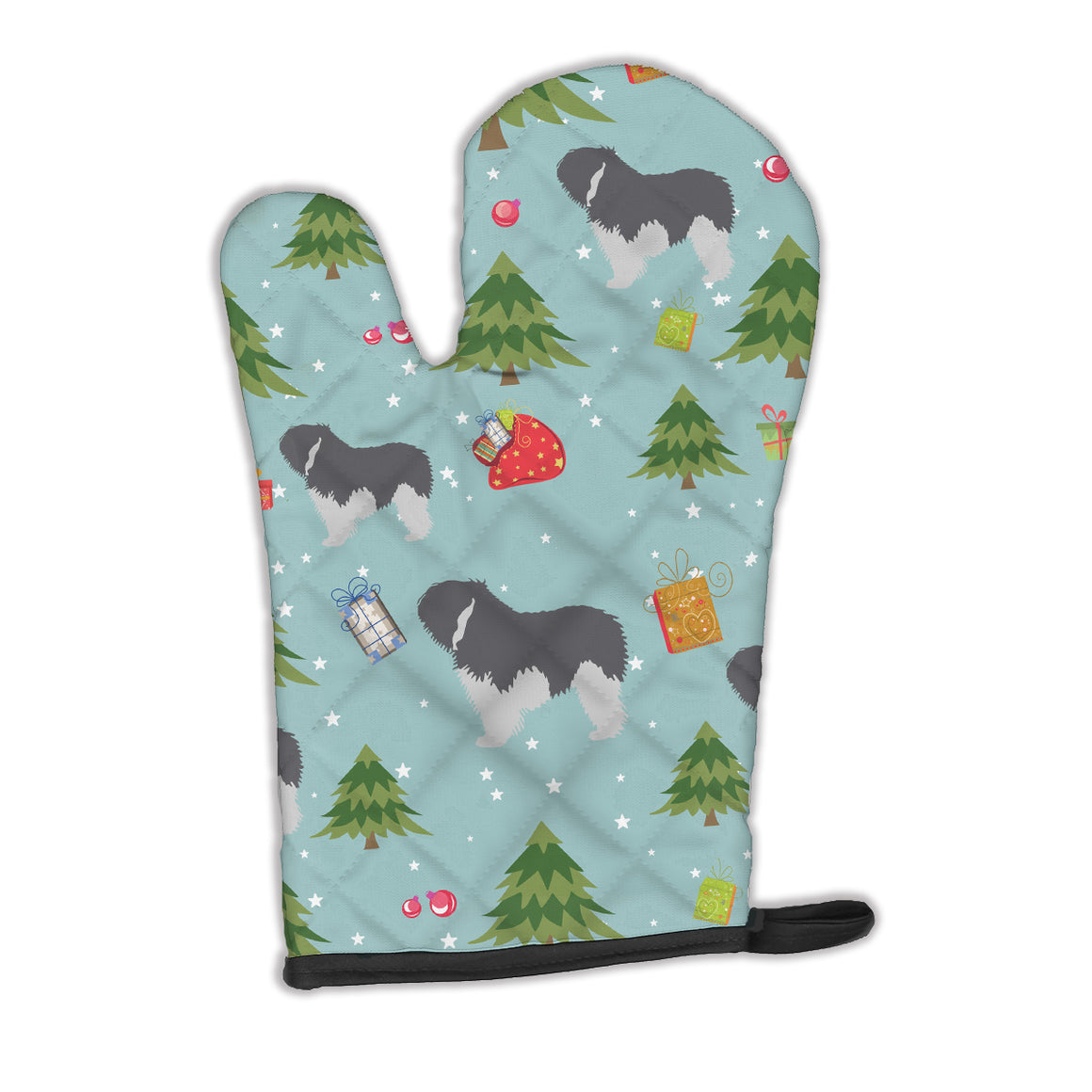 Buy this Christmas Polish Lowland Sheepdog Dog Oven Mitt BB4856OVMT