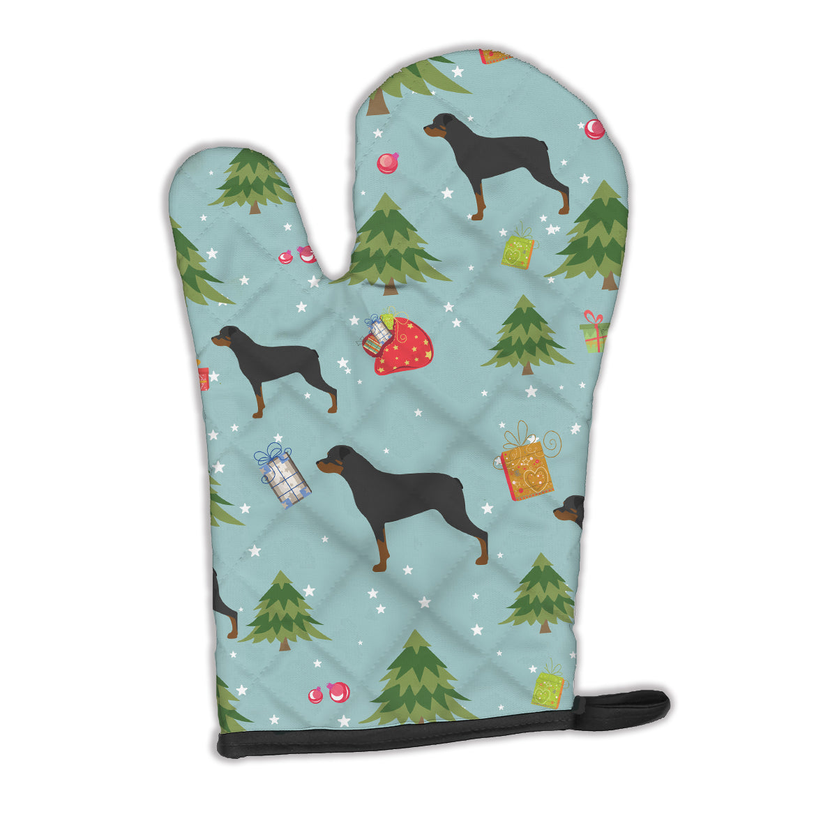 Buy this Christmas Rottweiler Oven Mitt BB4890OVMT