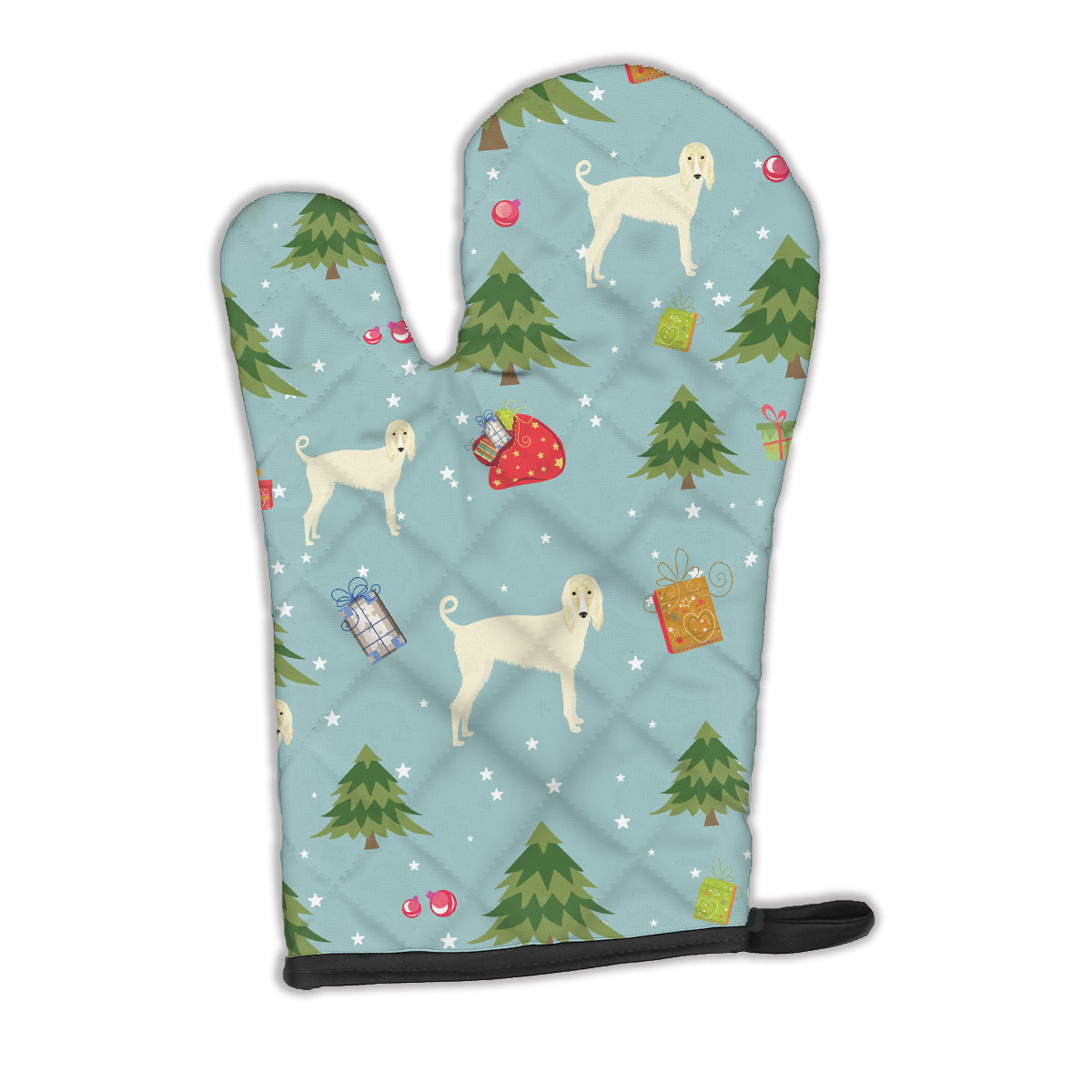 Buy this Christmas Afghan Hound Oven Mitt BB4905OVMT