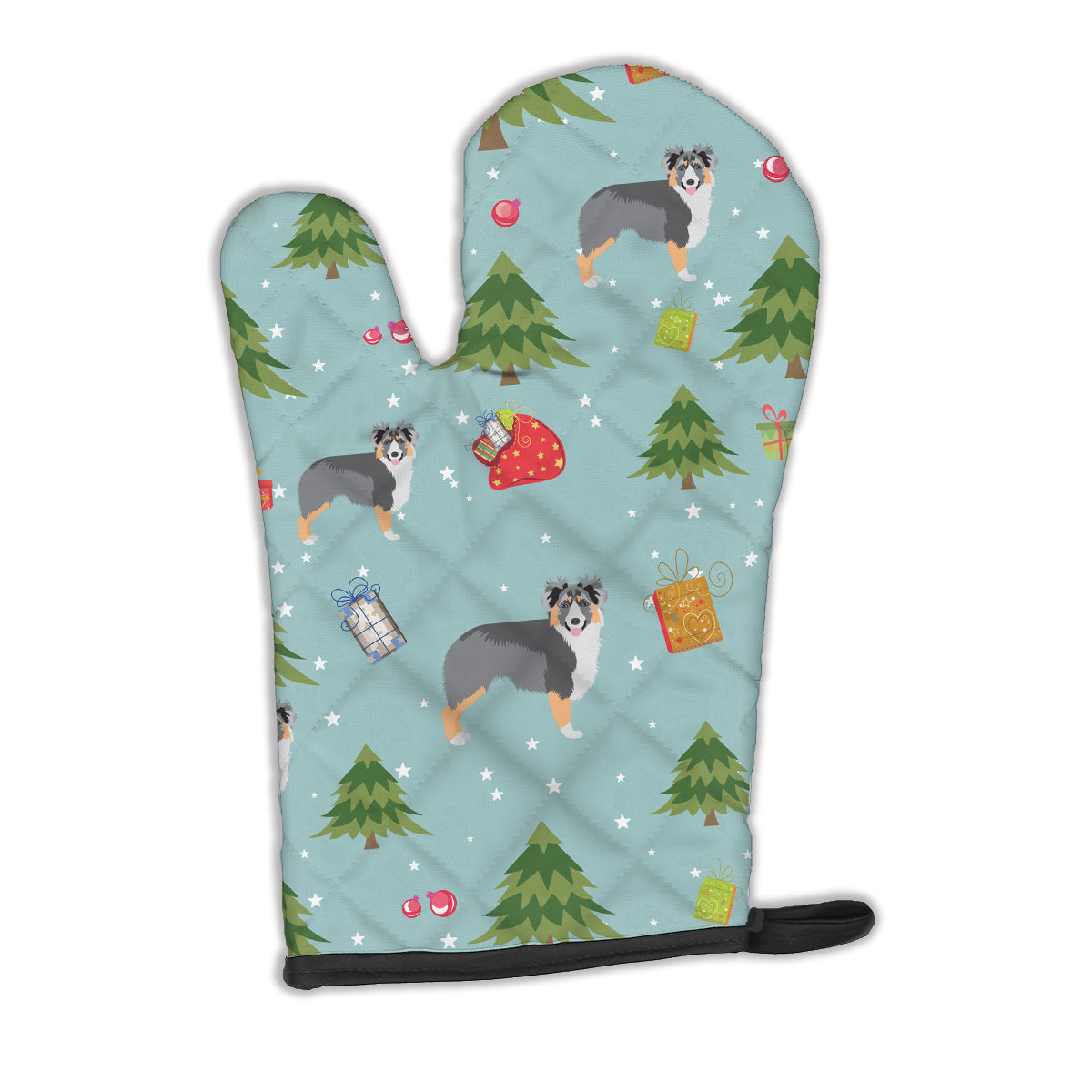 Buy this Christmas Australian Shepherd Oven Mitt BB4907OVMT