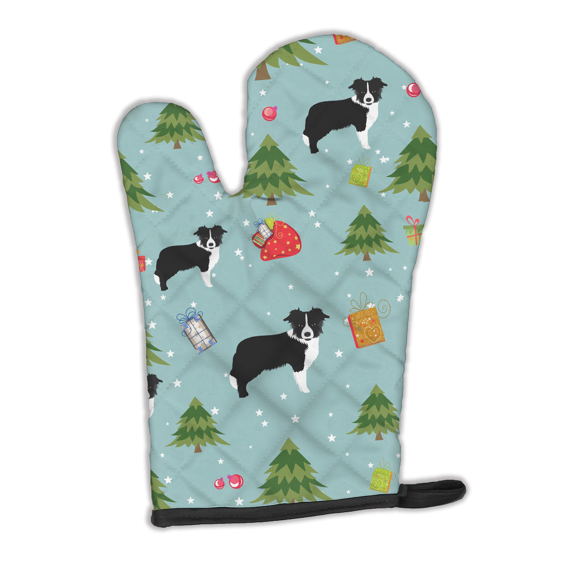 Christmas Border Collie Oven Mitt BB4913OVMT by Caroline's Treasures