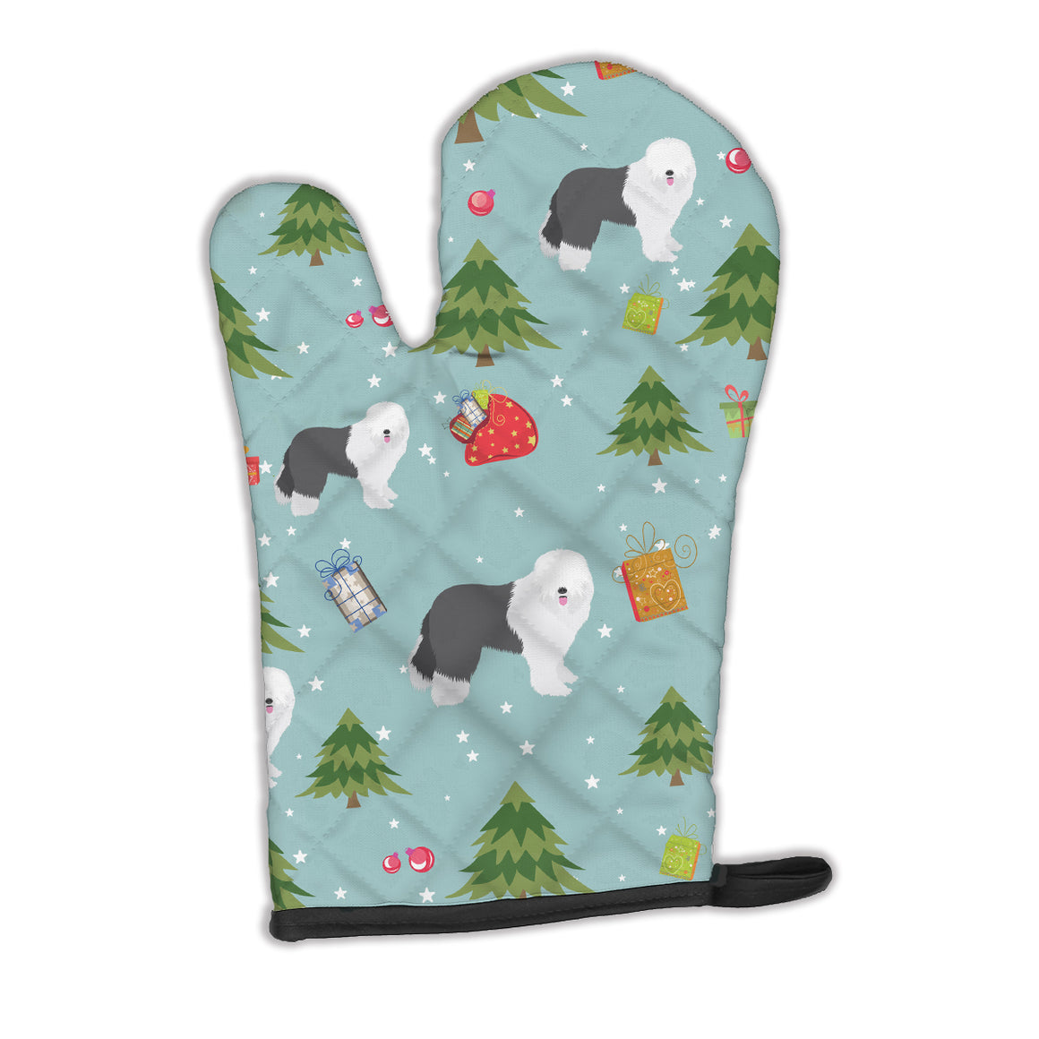 Buy this Christmas Old English Sheepdog Oven Mitt BB4969OVMT