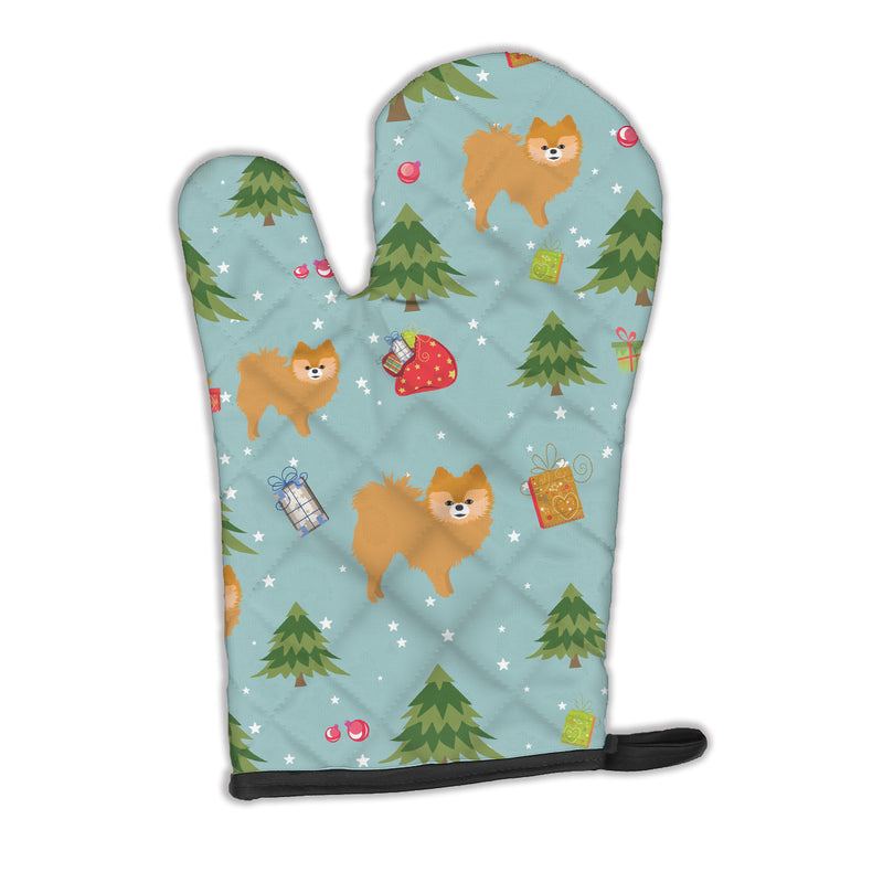 Buy this Christmas Red Pomeranian Oven Mitt BB4972OVMT