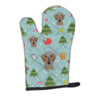 Buy this Christmas Wirehaired Dachshund Oven Mitt BB5022OVMT