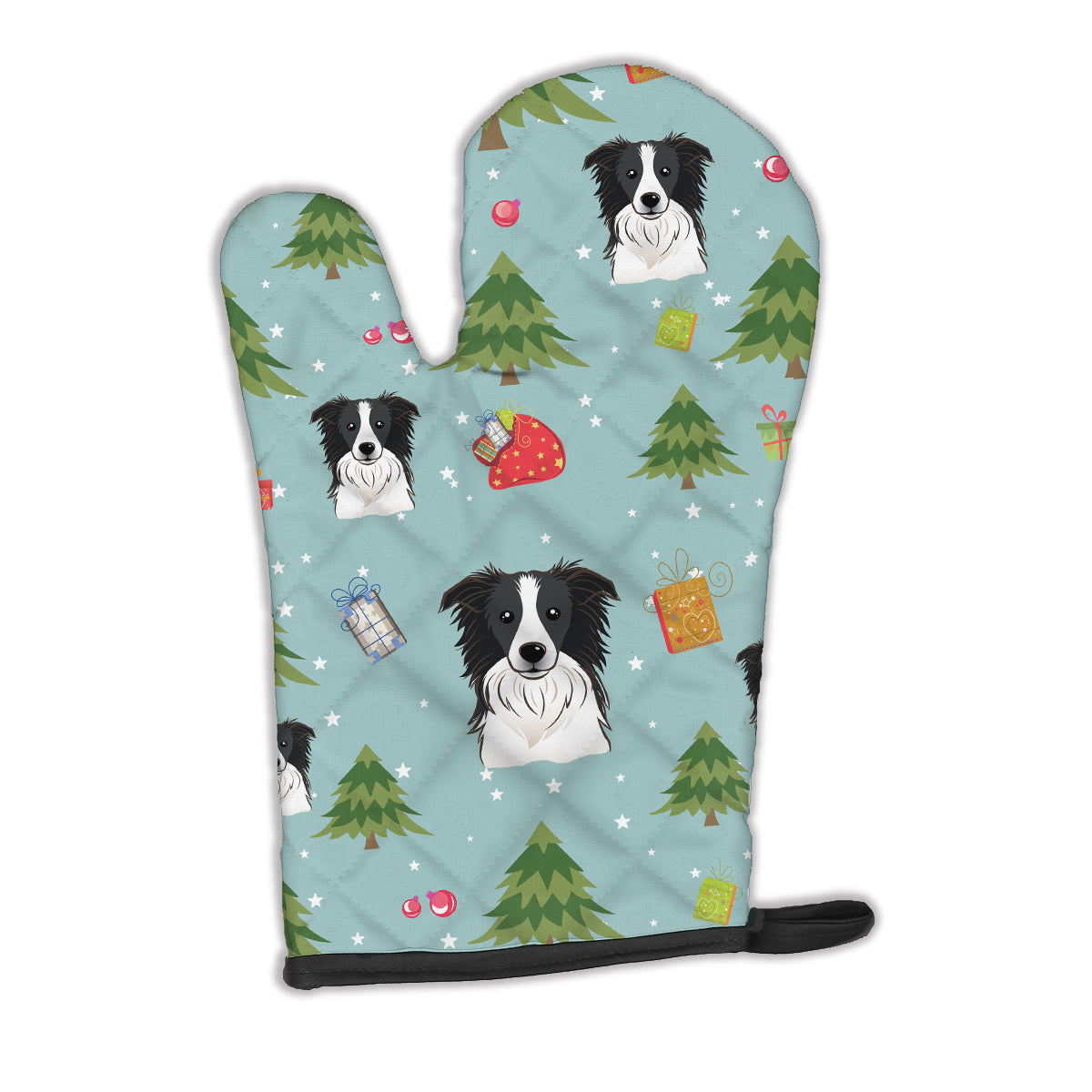Christmas Border Collie Oven Mitt BB5030OVMT by Caroline's Treasures