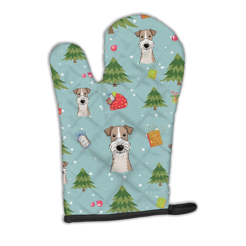 Buy this Christmas Wire Haired Fox Terrier Oven Mitt BB5036OVMT