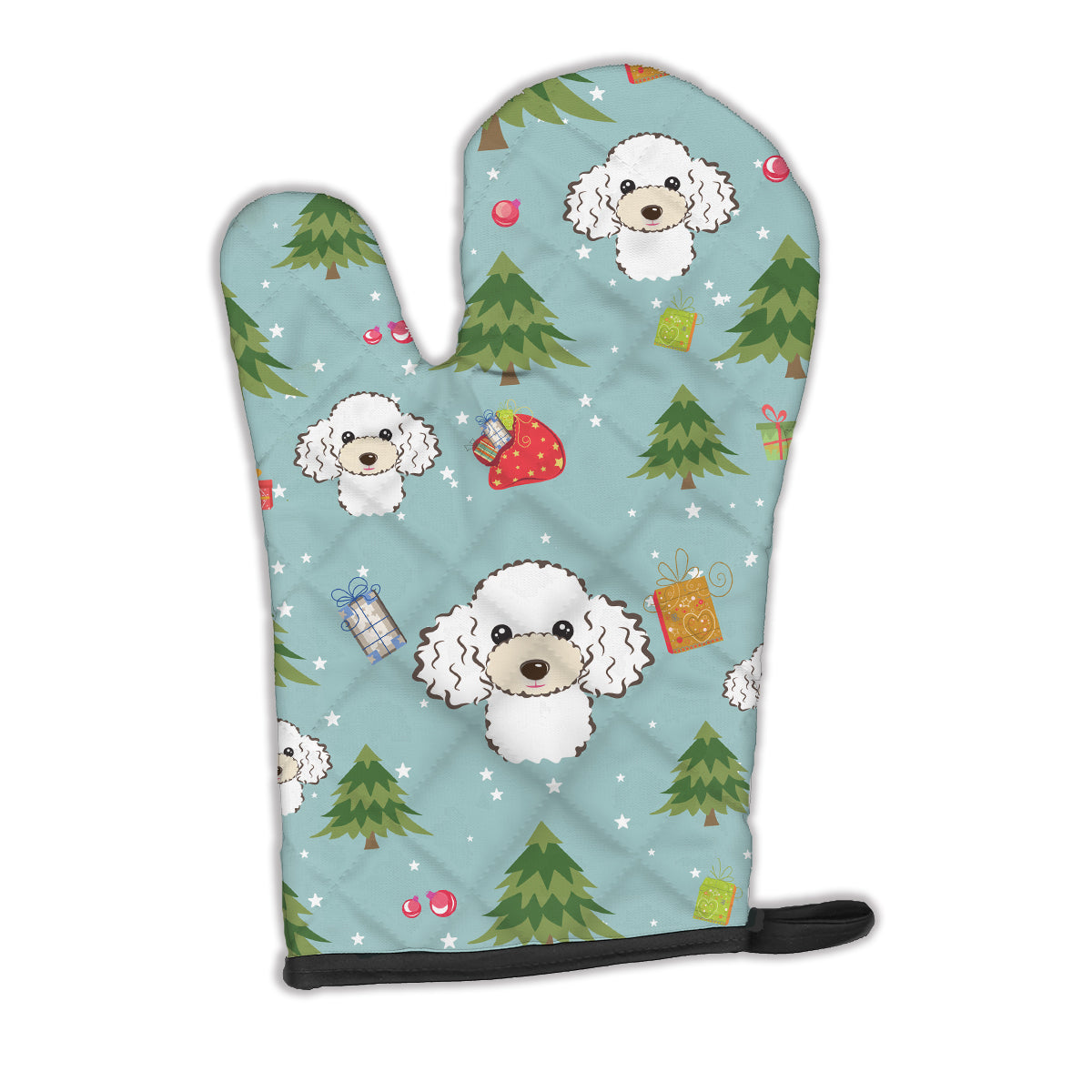 Buy this Christmas White Poodle Oven Mitt BB5046OVMT