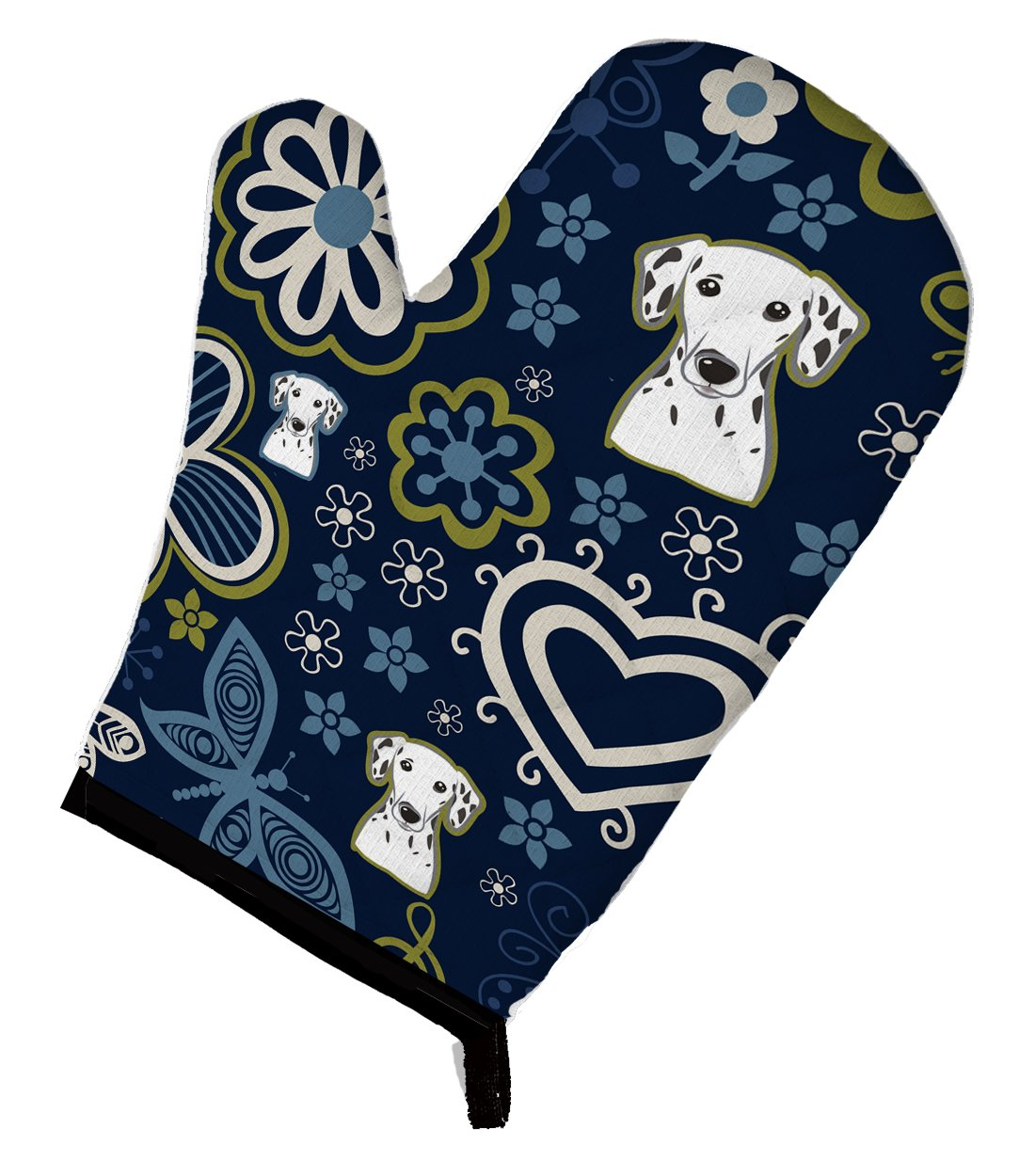 Buy this Blue Flowers Dalmatian Oven Mitt BB5061OVMT