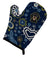 Buy this Blue Flowers Smooth Black and Tan Dachshund Oven Mitt BB5066OVMT