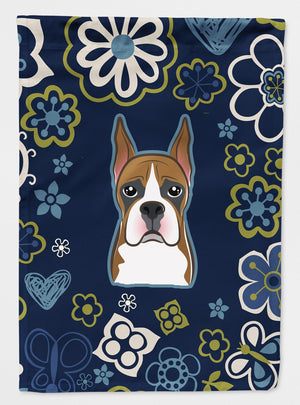Buy this Blue Flowers Boxer Flag Garden Size