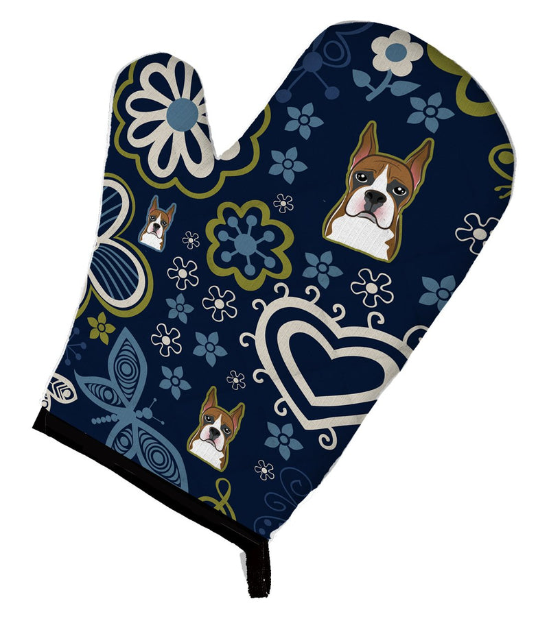 Buy this Blue Flowers Boxer Oven Mitt BB5074OVMT