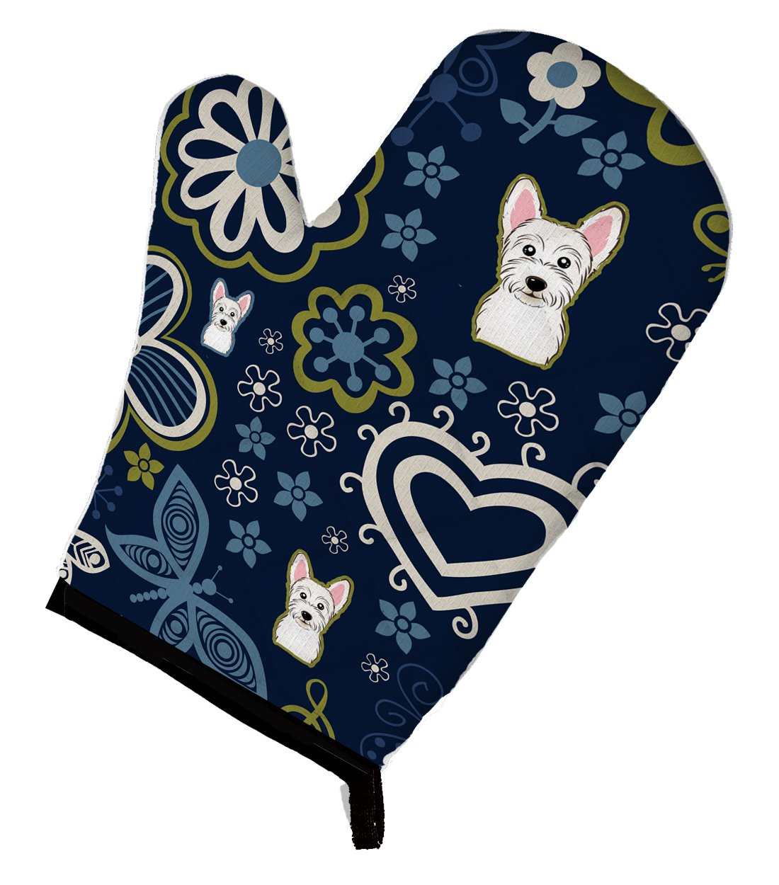 Buy this Blue Flowers Westie Oven Mitt BB5077OVMT