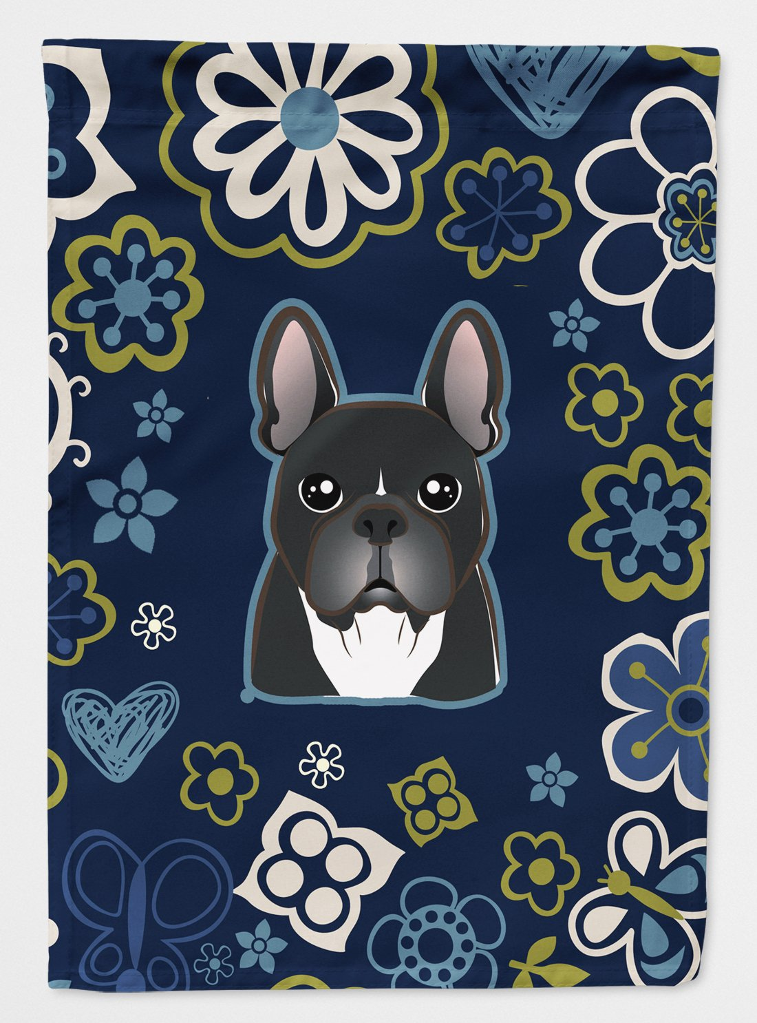 Blue Flowers French Bulldog Flag Garden Size BB5078GF by Caroline's Treasures